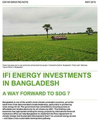 IFI Energy Investments in Bangladesh